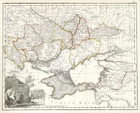 Новороссийская губерния (1796 - 1802). Карта Российской империи 1800 г.
