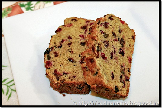 Almond Cranberry Quick Bread - IMG_2147