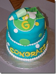 baby shower blue cake