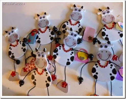 Udderley Fabulous. Cow Card. Card Embellishments