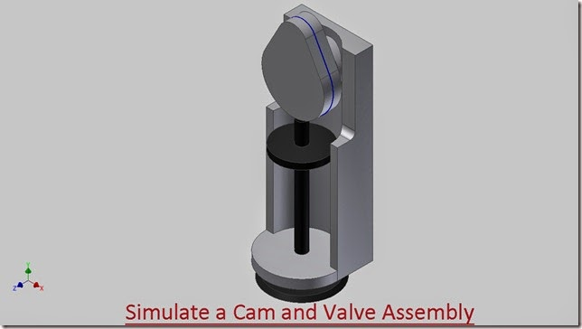 Simulate a Cam and Valve Assembly