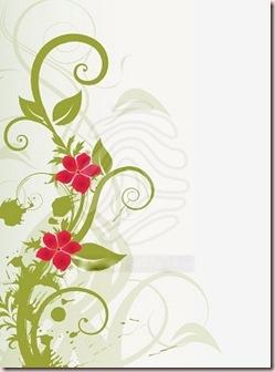 arabesque-verte-et-fleurs-rouges