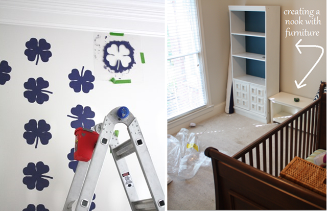stenciling a focal wall