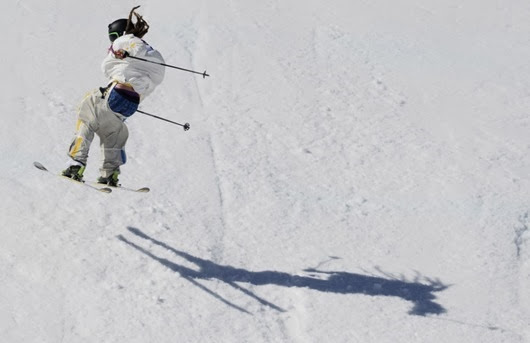 Sweden's Henrik Harlaut competes in the Men's Freestyle Skiing Slopestyle finals at the Rosa Khutor Extreme Park during the Sochi Winter Olympics on February 13, 2014.     AFP PHOTO / FRANCK FIFEFRANCK FIFE/AFP/Getty Images ORG XMIT: 461599945