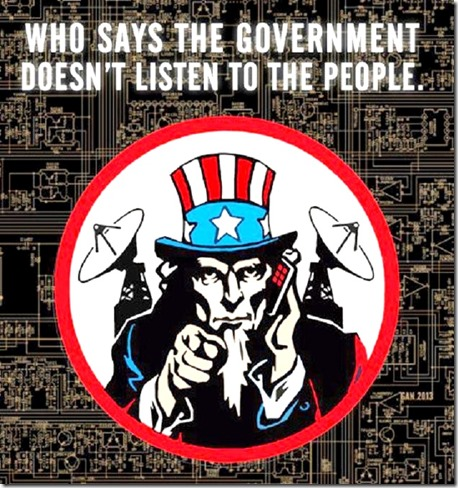 Uncle Sam- who says govt doesn't listen toon