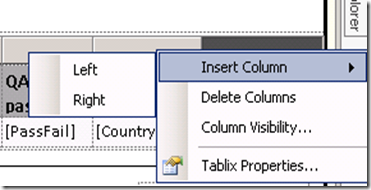 3. Insert New column in RDL file