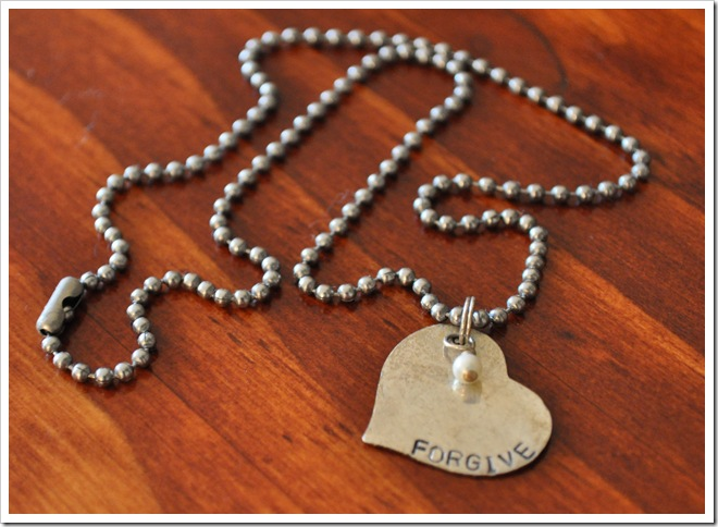 forgive necklace
