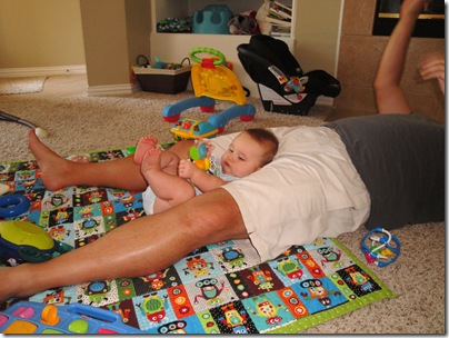 5.  Reclining on Daddy