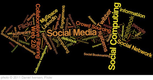 'social media, social networking, social computing tag cloud (#3)' photo (c) 2011, Daniel Iversen - license: http://creativecommons.org/licenses/by/2.0/