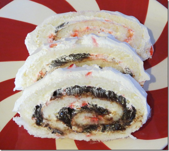 Peppermint Angel Food Cake Roll 3