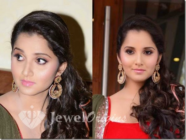 Sania_Mirza_Gold_Earring