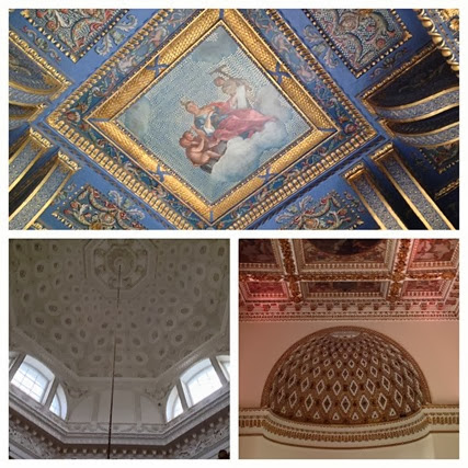 Ceilings, domes and apses in Chiswick House