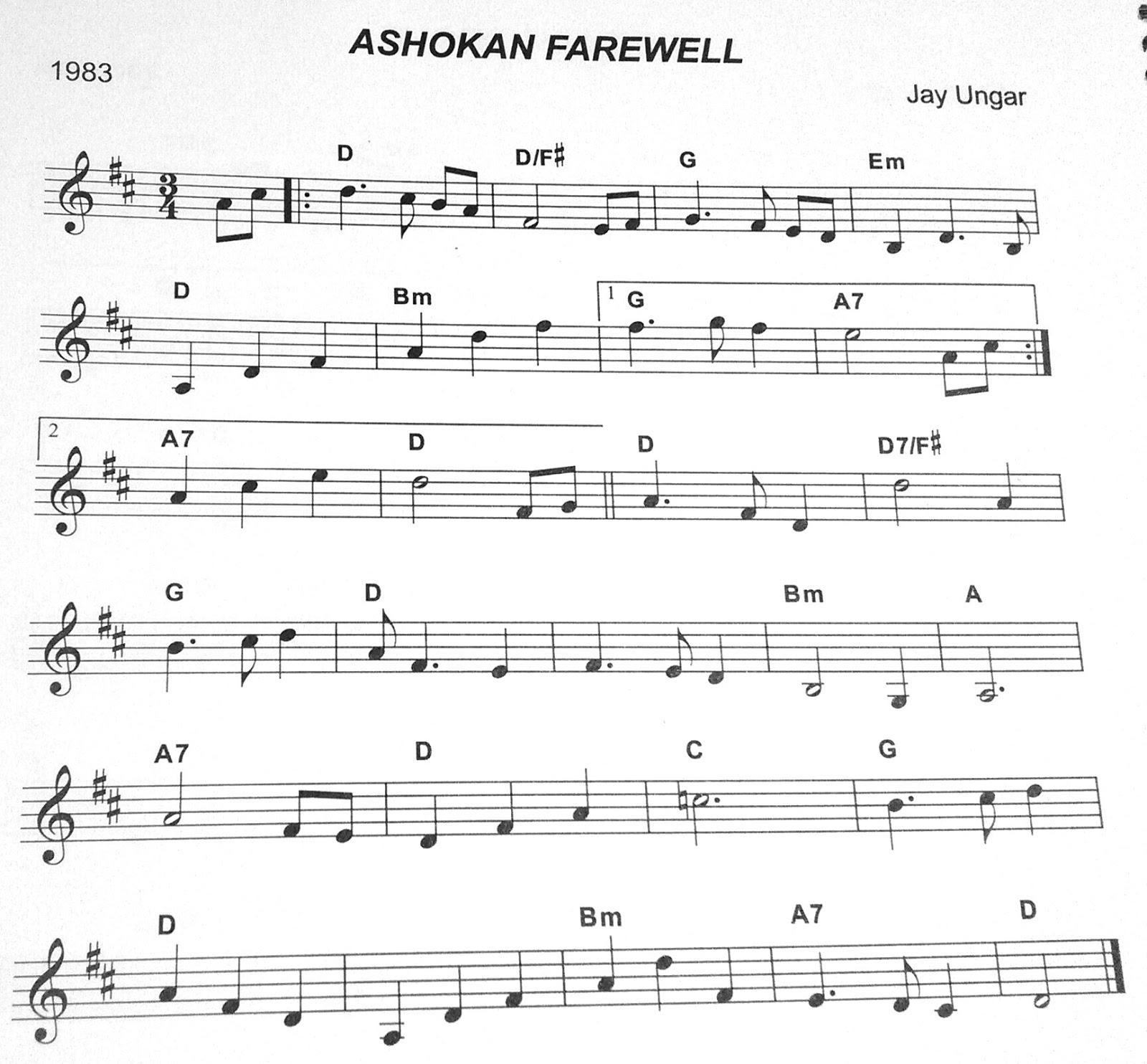 Amazon.com: ashokan farewell sheet music