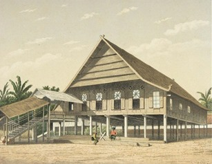 Rumah Adat Gowa Makasar 1880