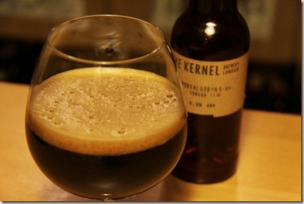 The Kernel brown imp stout foamy glass
