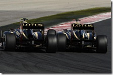 Le due Lotus nel gran premio d'Ungheria 2012