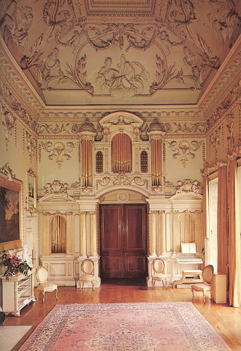 The crown jewel of the Carton estate: the Saloon.  I am mesmerized by the baroque ceilings, the work of the Francini brothers in 1739, that depict