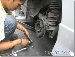 Tukar bearing tayar dengan ABS-myvi-1