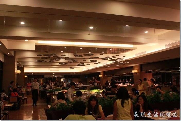 南投日月潭-雲品酒店。丹彤餐廳的景象。