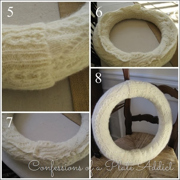 CONFESSIONS OF A PLATE ADDICT Sweater Wreath Tutorial 2