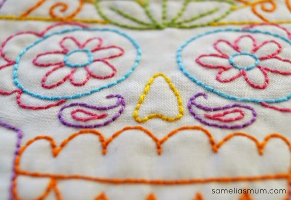 Sugar Skull Embroidery 3