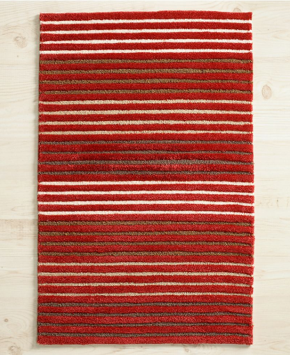 Red stripes will make this rug a show stopper in your home.  (macys.com)