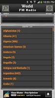 Screenshot of World FM Radio