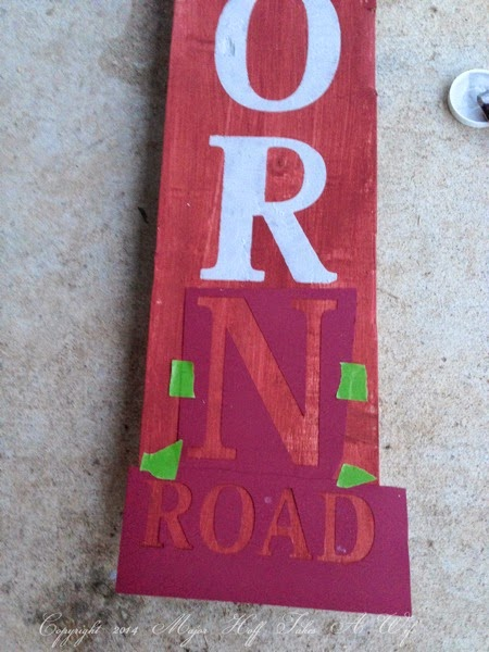 Using stencils cut by cricut to make a custom sign