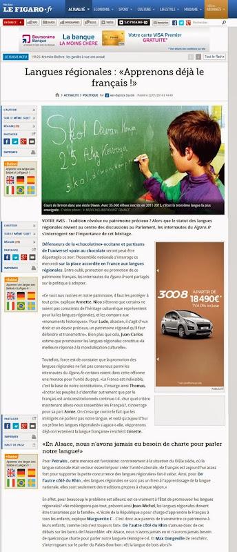Langues régionales Le Figaro