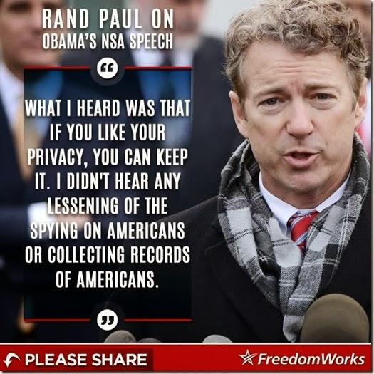 Rand on NSA Speech