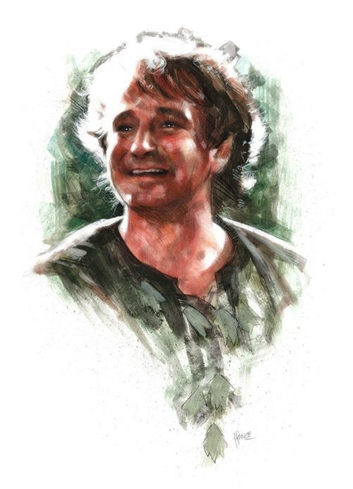 Thanks for Believing - Robin Williams Hook Tribute Art by James Hance