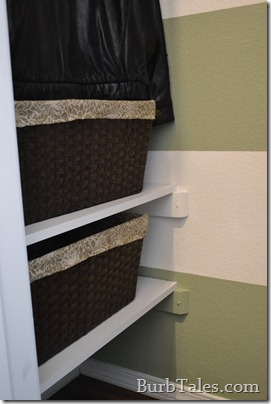 Shelves in front closet