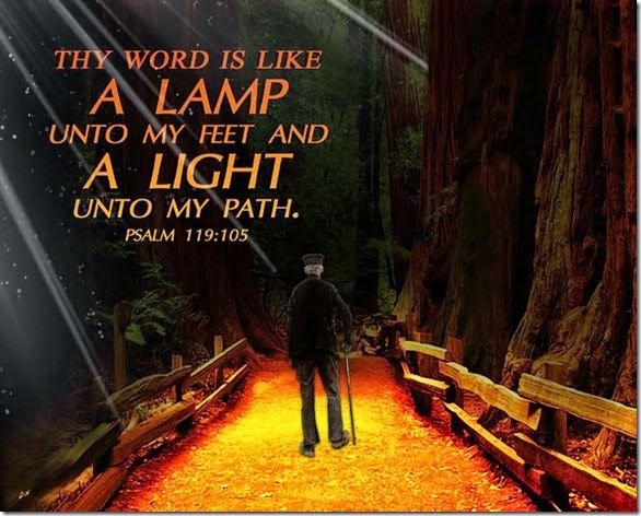Word- Lamp to Feet & Light to Path