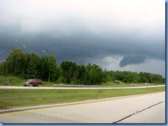 4872 Michigan - near Kinross, MI - I-75 - stormy skies
