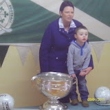 Luke Jordan with his mother Karen (niece of Teddy McCarthy who lifted both cups in 1990)