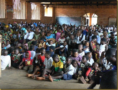 kids in church at Mutoto