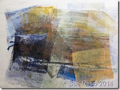Collograph printing, image 8, by Sue Reno