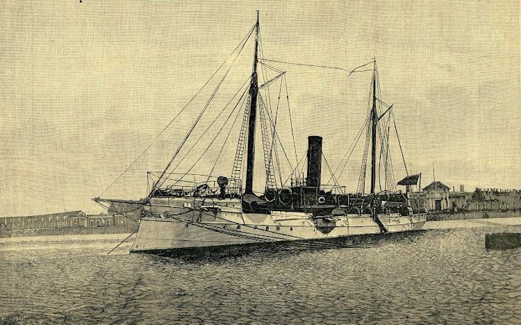 El cañonero torpedero NUEVA ESPAÑA. Revista de Navegación y Comercio. Año 1.892.JPG
