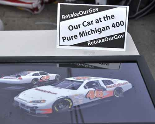 picture of our entry at the Michigan 400