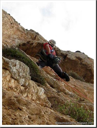 Via Costa Blanca 250m 6c  (6b A0 Oblig) (Peon de Ifach, Alicante) (Fran) 4803