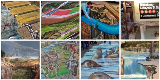 anamorphic 3D Street Paintings