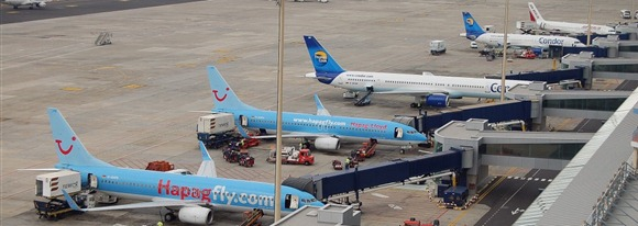 Pista aeropuerto de Tenerife Sur