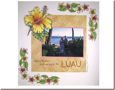 Wendy's Luau scrap page