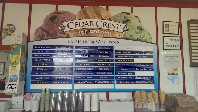 Cedar Crest Ice Cream Menu