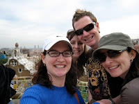 The gang at Park Guell