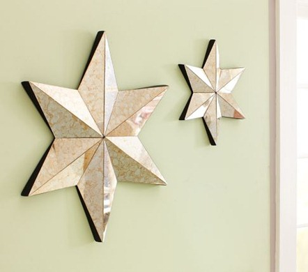 pottery barn kids mirrors stars