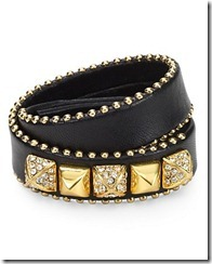 Juicy Couture Leather Wrap Around Bracelet