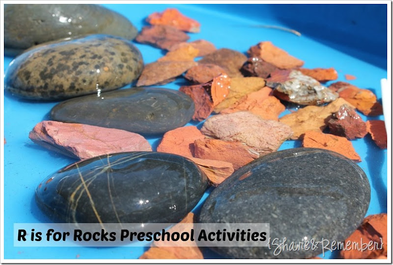water and rocks sensory play 2