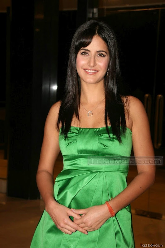 Katrina Kaif Beautiful Photos in Short Green Dress 1
