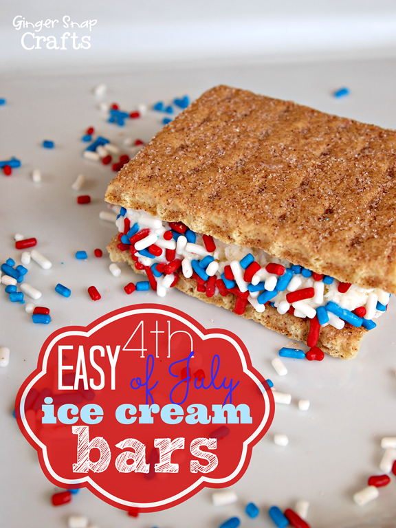 easy #4thofJuly #icecream bars at gingersnapcrafts.com